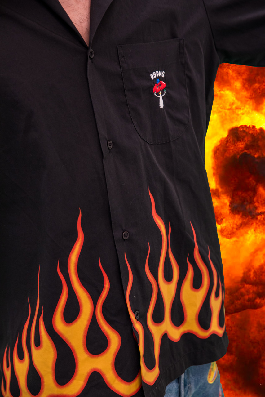 Vintage Reworked Flame Shirt