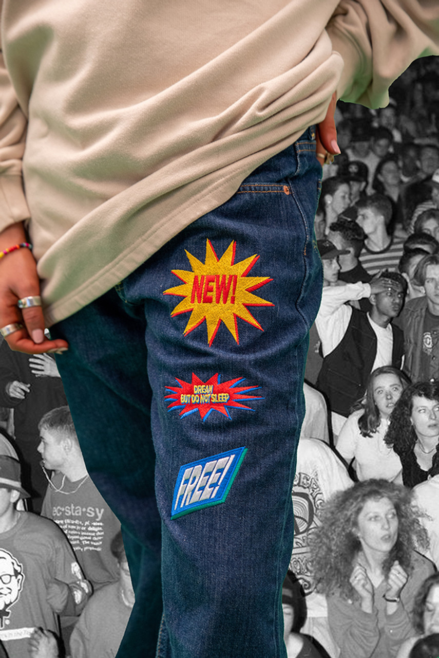 Vintage Reworked Levis 501 Embroidered Jeans