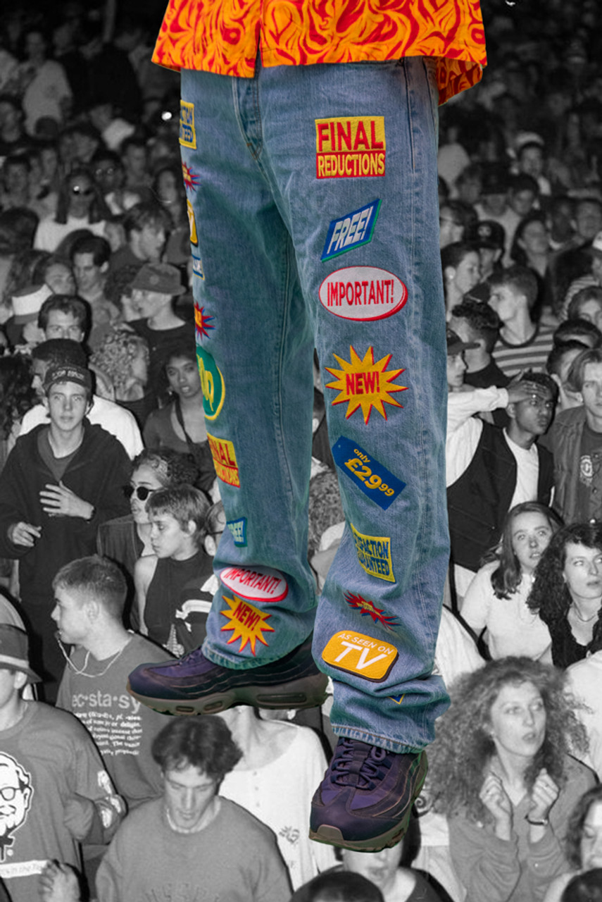 Vintage Reworked Levis 501 Embroidery Jeans