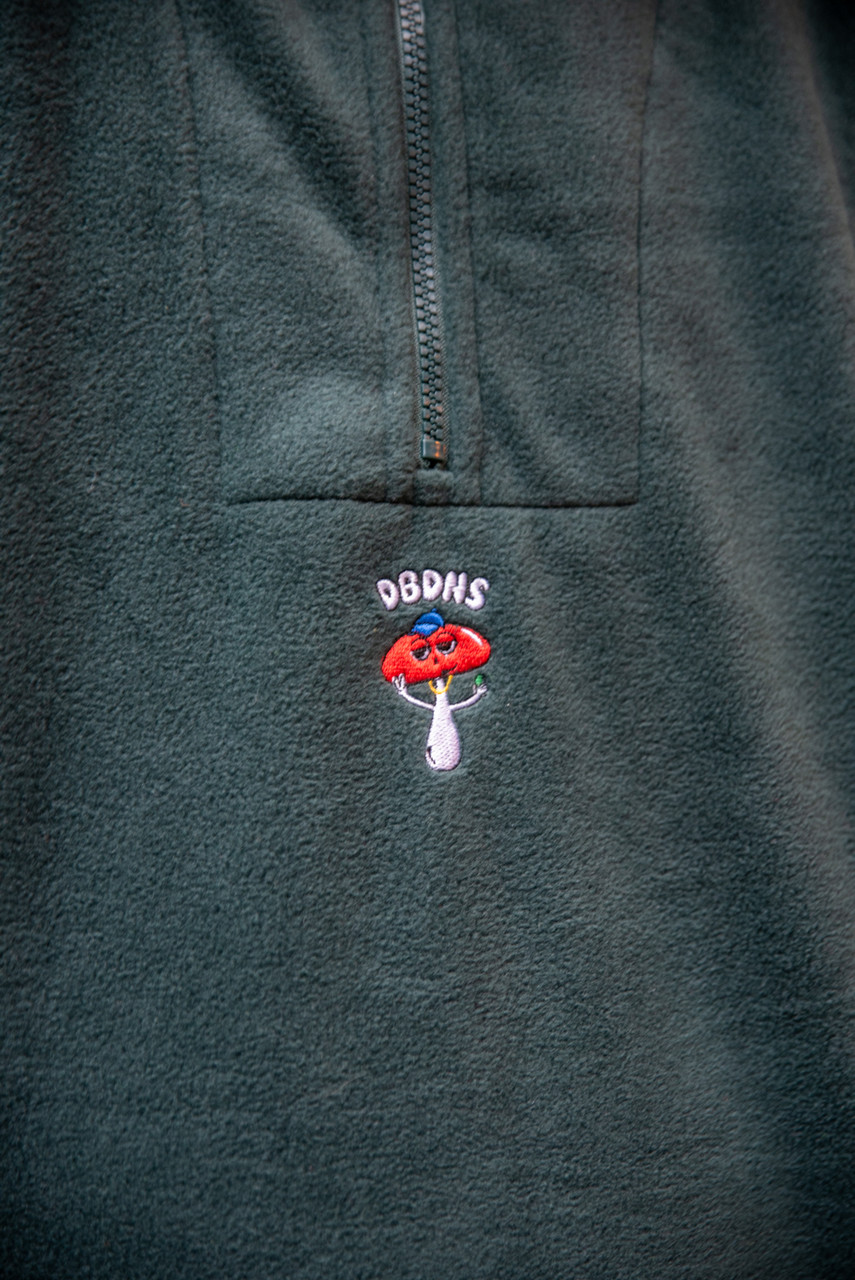 Fleece In Green With Bro Shroom Embroidery