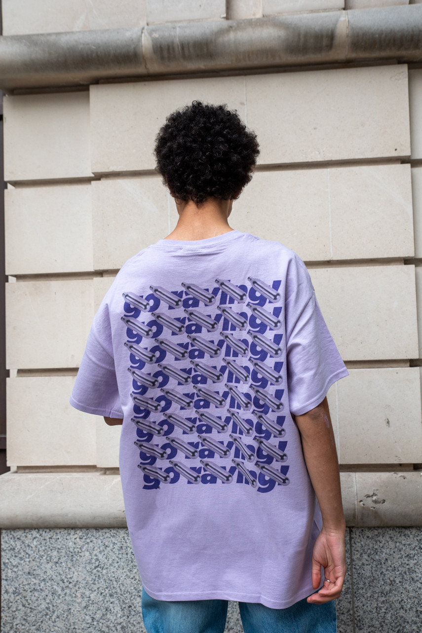 Purple T-Shirt With Purple Go Raving! Print