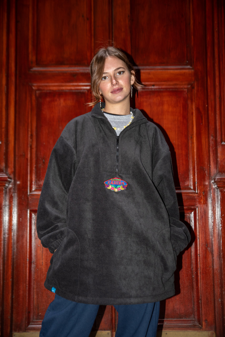 Fleece In Black With Dream Casino Embroidery