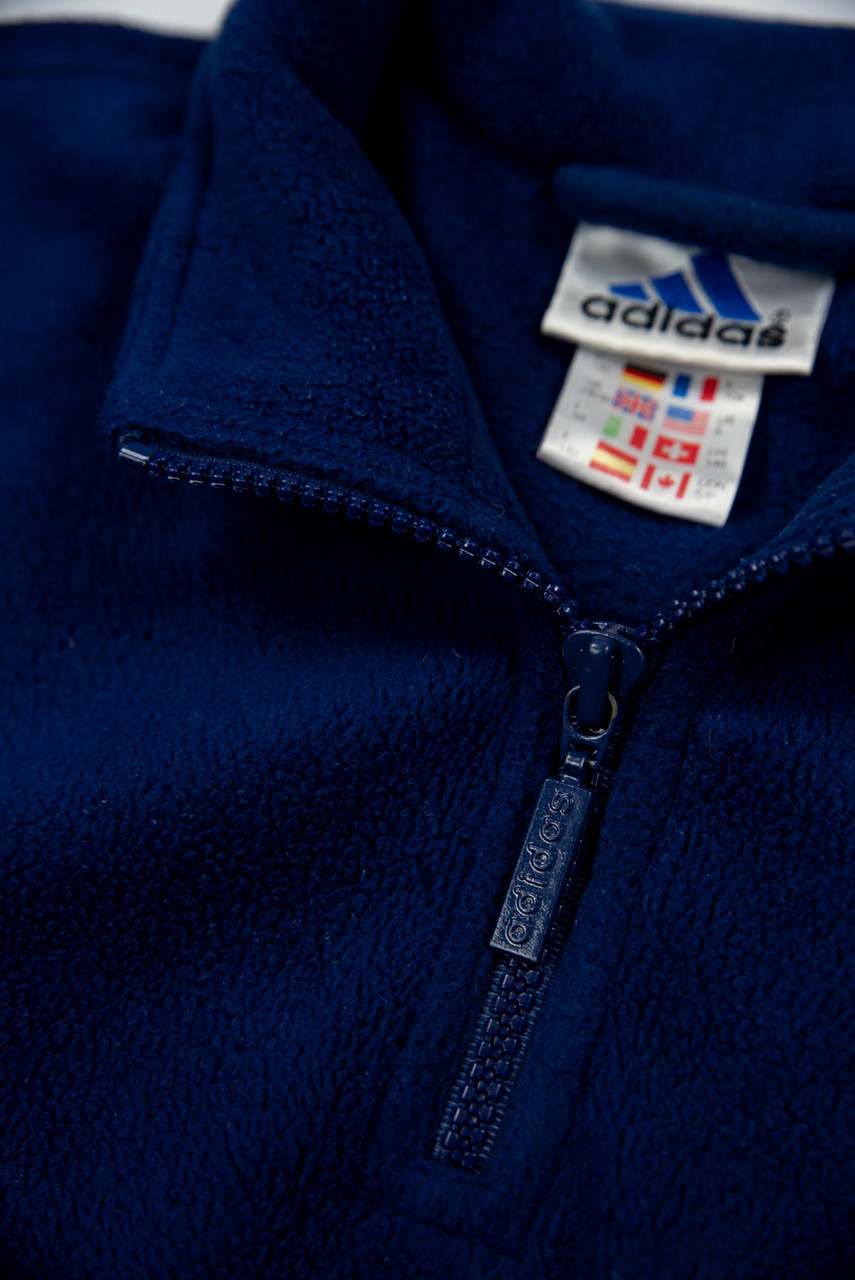Reworked Vintage Adidas Quarter Zip with Back Logo