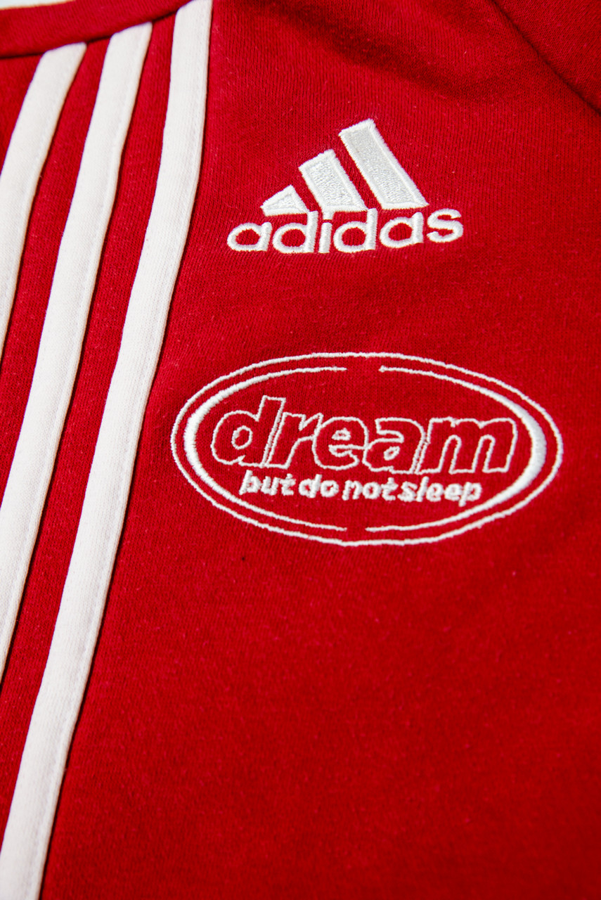 Reworked Vintage Adidas Red Quarter Zip