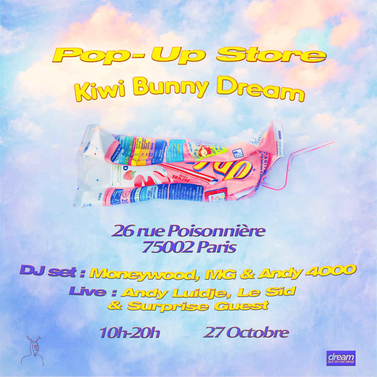 Paris: Kiwi Bunny Dream Pop-up