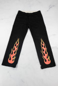 Reworked Vintage Dickies Flame Black Trousers