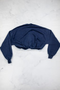 Reworked Vintage Navy Cropped Sweatshirt
