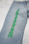 Reworked Vintage Green Levis Freedom Jeans