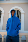 Hoodie in Royal Blue with Dream Sports Embroidery