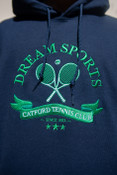 Hoodie in Navy with Catford Tennis Club Embroidery
