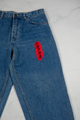 Reworked Vintage Levis Jeans With Dragon Embroidery
