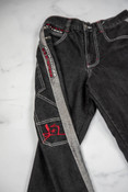 Reworked Vintage Y2K Jeans With Dragon Embroidery