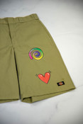 Reworked Vintage Dickies Shorts with Summer Prints