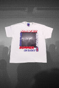 Short Sleeved T-shirt in White with Reach For The Lasers Print