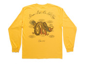 Chinese Dragon Design On Gold Long Sleeved T-shirt