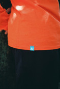 Orange Long Sleeved T-shirt With 90's Logo Design