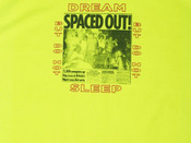 Safety Green Short Sleeved T-shirt With Spaced Out! Design