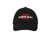 Black Cap With Dream Globe Embroidery