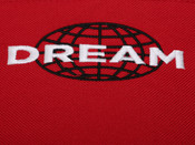 Red Side Bag With Dream Globe Embroidery