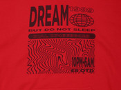 Red Hoodie With Dream Globe Rave Flyer Graphic