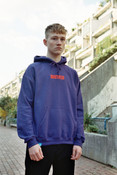 Purple Hoodie With Embroidered DBDNS logo