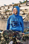 Royal Blue Hoodie With Printed 'Lost In The Unknown' Design