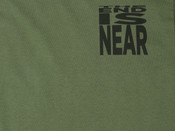 Military Green T-shirt With 'The End Is Near' Design