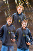 Navy Blue Fleece With Paradise Island Parrot Embroidery
