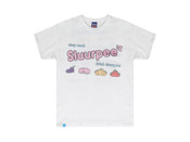 White Short Sleeved T-shirt With Sluurpee Design
