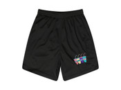 Black Shorts With Embroidered Sluurpee Design