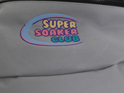 Grey Oversized Bum Bag  Super Soaker Embroidery