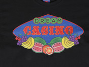 Black Short Sleeved T-shirt With  Fruity Casino Slots Print