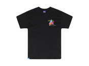 Black Short Sleeved T-shirt With Colourful 90s Gradient Print