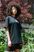 Black T-shirt With Dream Sport Embroidered Logo
