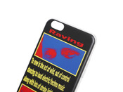 Black iPhone Case With Rave Flyer Print