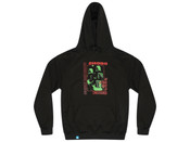 Black Hoodie With Psychedelic Transformations Print