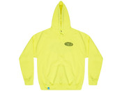 Neon Green Hoodie With Strictly Positive Vibes Print