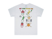 Short Sleeved T-shirt In White With Fruity Ravers Print