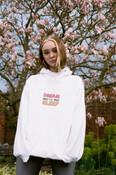 Hoodie In White With Fruity Ravers Print