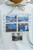 Hoodie in Sand with Croatian Festival Photo Print