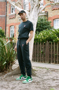 Joggers in Black with Embroidered Bro Shroom