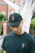 Cap In Black With Embroidered Bro Shroom