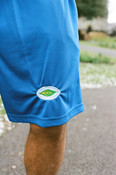 Shorts in blue with Fruit Sticker Embroidery