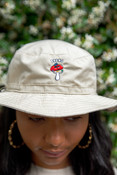 Bucket Hat In Sand With Embroidered Bro Shroom