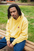 Hoodie in Yellow with Bro Shroom Embroidery