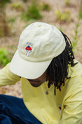 Cap In Yellow With Embroidered Bro Shroom