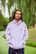 Hoodie in Lilac with Bro Shroom Embroidery