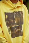 Hoodie In Yellow With Ghost Town Print