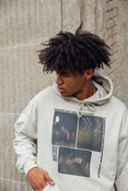 Hoodie In Sand With Ghost Town Print