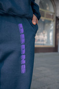 Joggers in Navy with Embroidered Logo Design